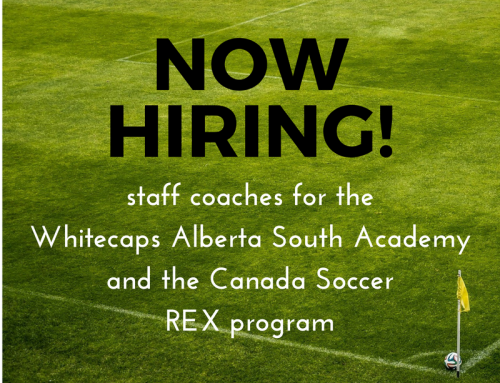 Now hiring: staff coaches for Whitecaps AB South Academy and FC Edmonton REX