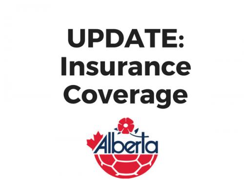 Insurance coverage updates for Alberta Soccer members